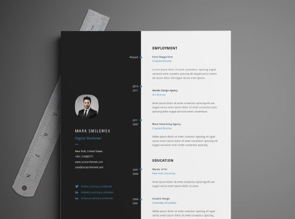 Illustrator Resume Templates Free Download Resume Template  Cv Template Template And Illustrators