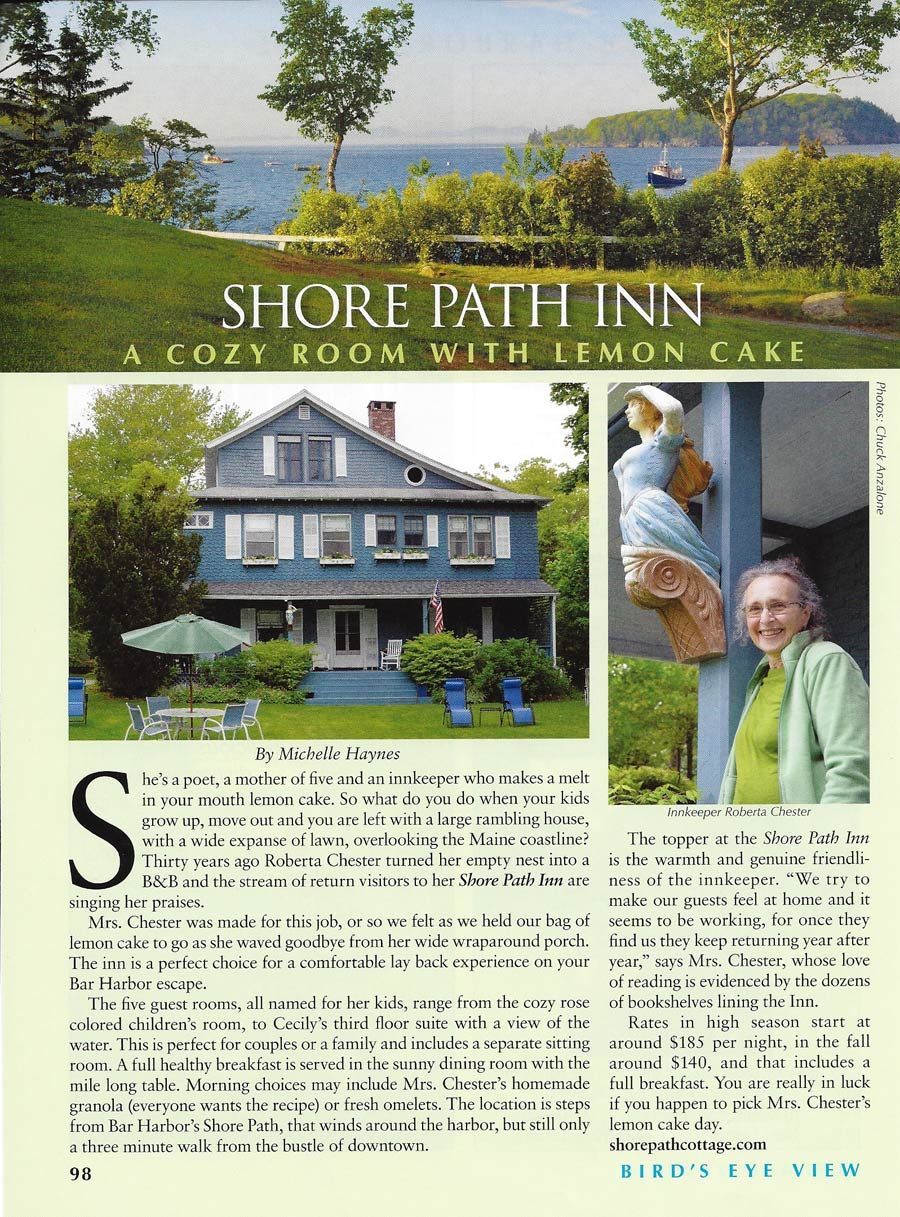 Read Summer 2012 Article in Cape Air's Bird's Eye View