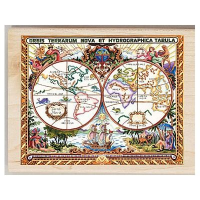Janlynn Old World Map Rubber Stamp Cartography Editorsu0027 Picks - new antique world map images