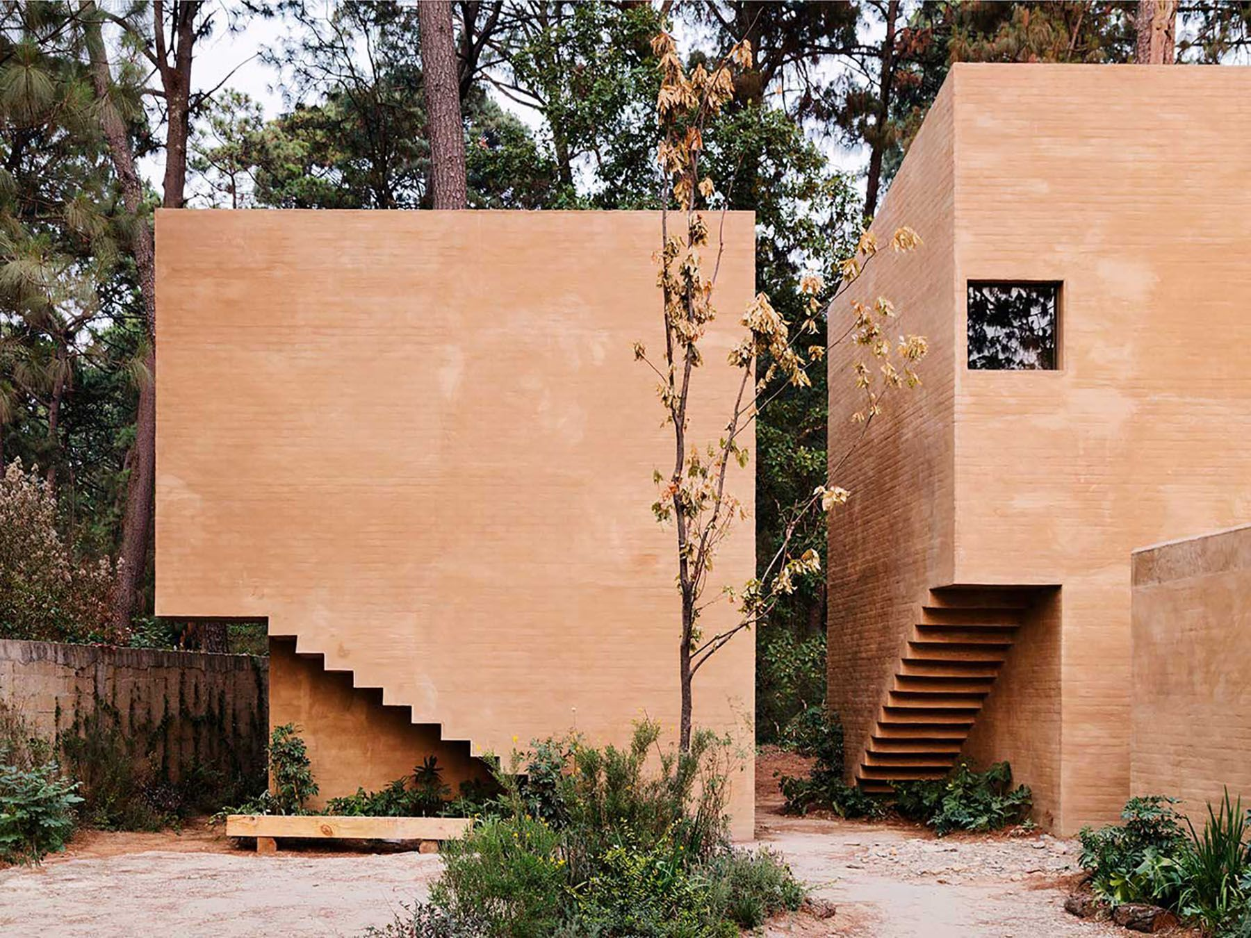 Taller Hector Barroso Designs Homes Amongst The Pines In Mexico Architecture Architecture Exterior Valle De Bravo