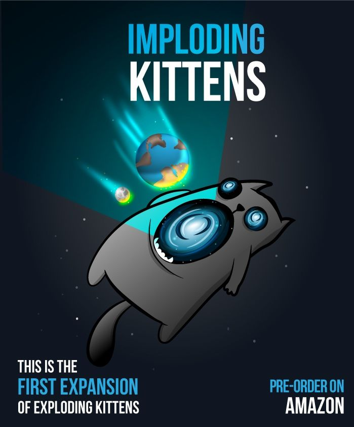 Own Imploding Kittens This Is The First Expansion Of Exploding Kittens With Images Exploding Kittens Card Game Exploding Kittens Card Games