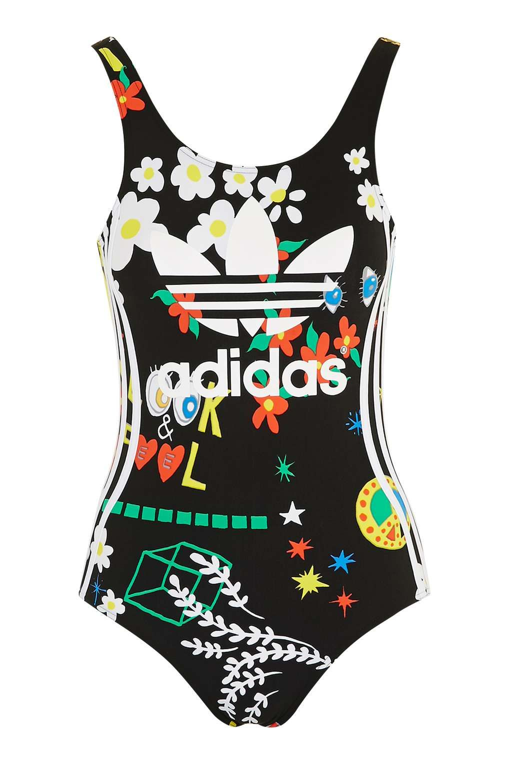 Floral Swimsuit By Adidas Originals In 2020 Floral Swimsuit