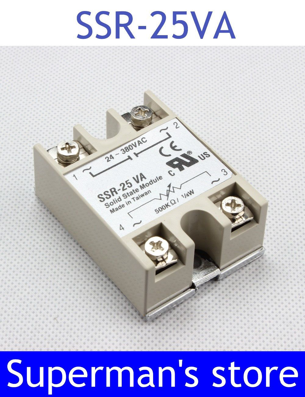 Solid State Relay Ssr 25va 25a Actually 5000k Ohm To 24 380v Ac Schematic
