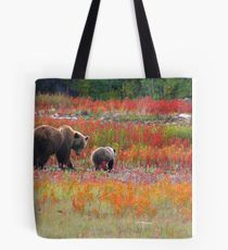 Grizzly family Tote Bag