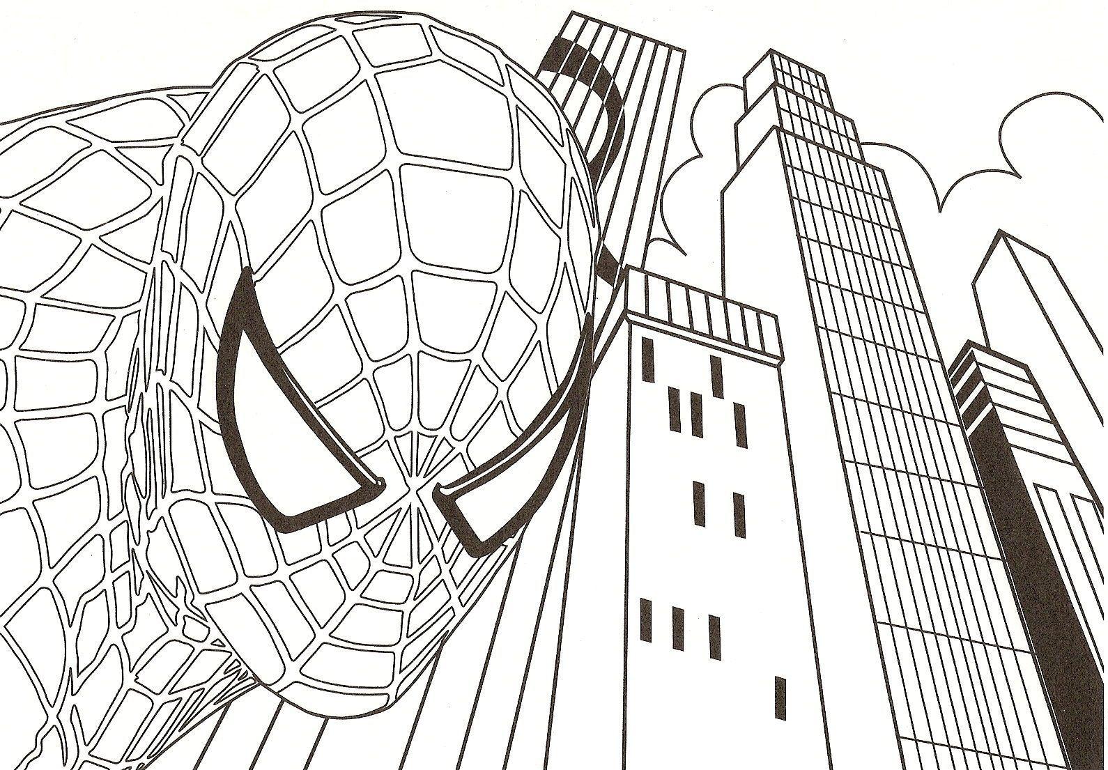 Coloriage spiderman   Coloriage spiderman, Coloriage gratuit ...