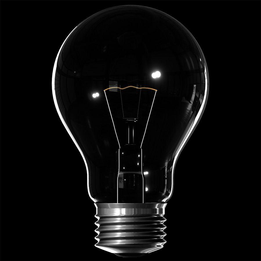 3d Classic Lightbulb Light Bulb Up Animation Dark Drawings