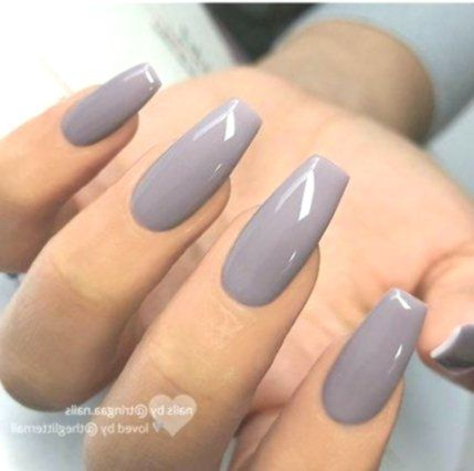 50 Ideas Nails Colors Purple Grey Square Acrylic Nails Plain Acrylic Nails Coffin Shape Nails