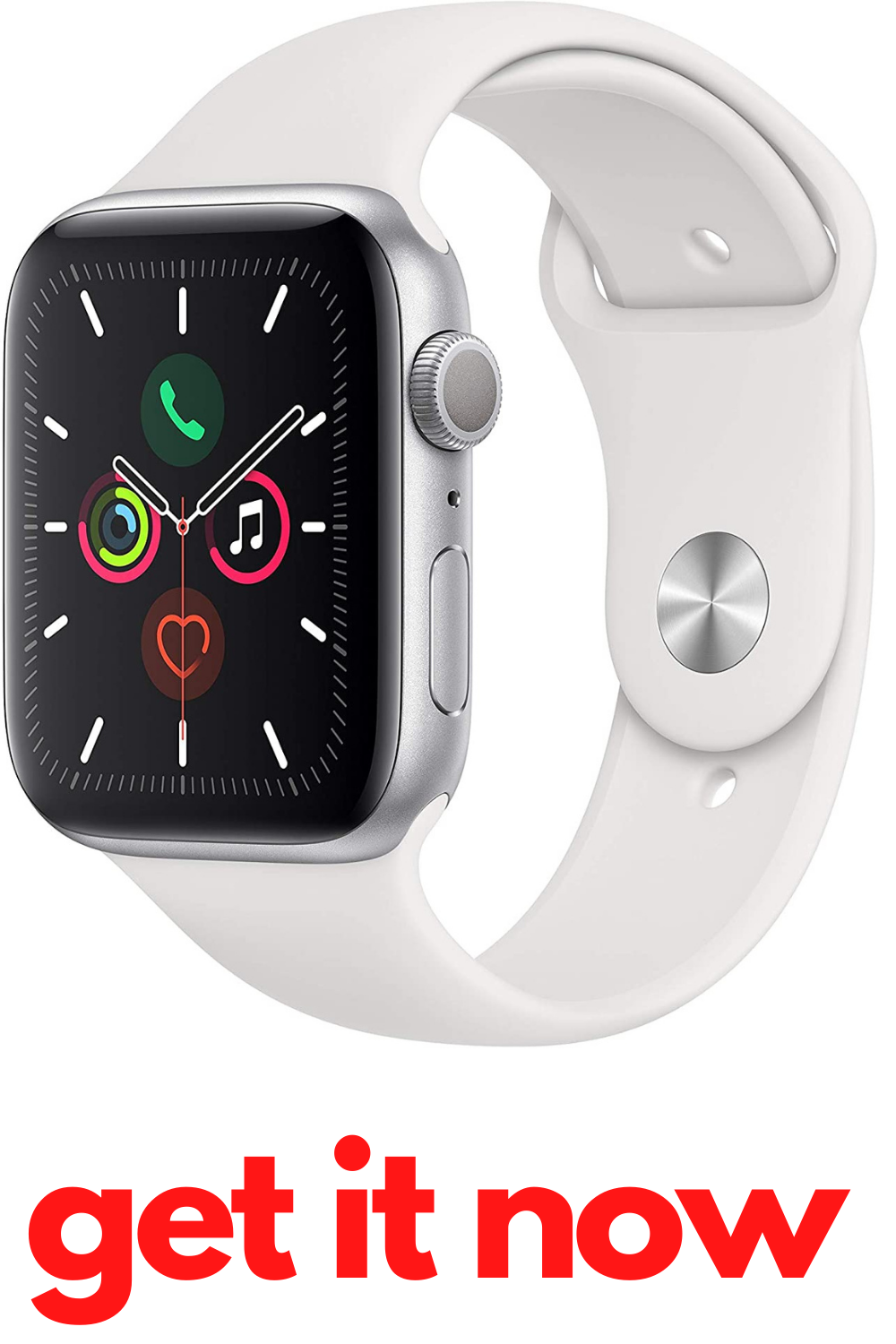 Apple Watch Series 5 Gps 44mm Silver Aluminum Case With White Sport Band Apple Watch Computers Tablets And Accessories Gps