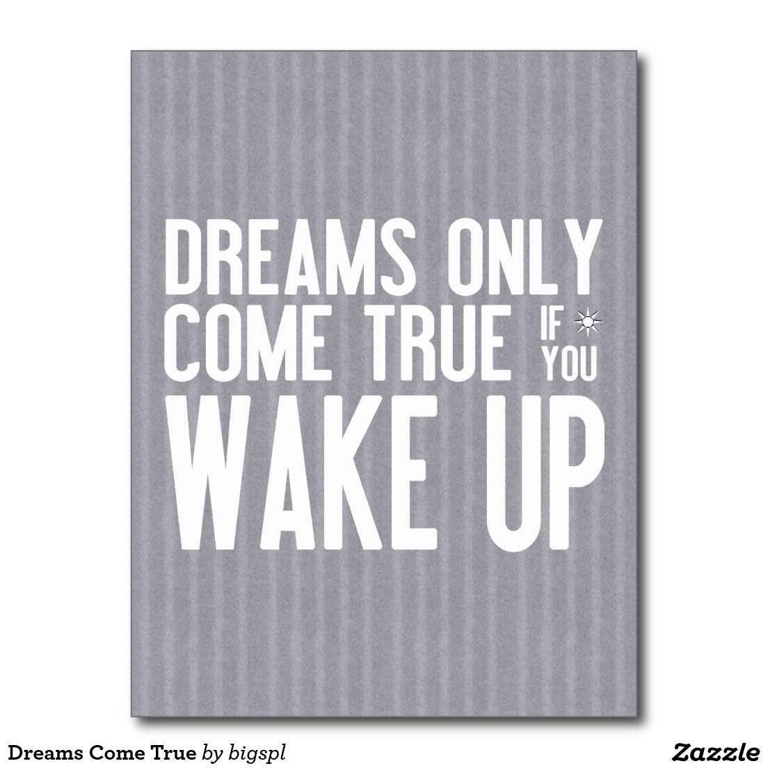 Dreams Come True Postcard