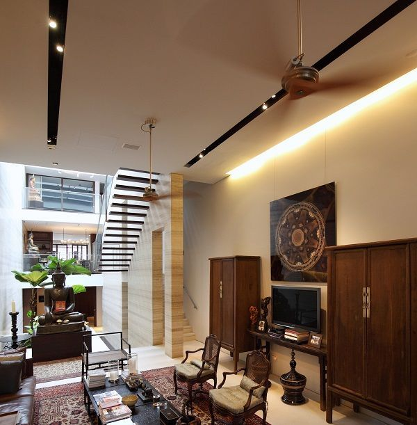 The spacious interior of house at emerald hill with travertine marble feature walls also cool home music studio area design outstanding offices rh br pinterest