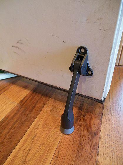 Add A Door Stop To Your Interior Garage Door Garage Doors Door Stop Doors