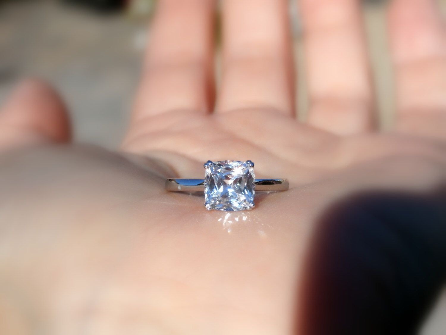 13++ White sapphire wedding rings sets information