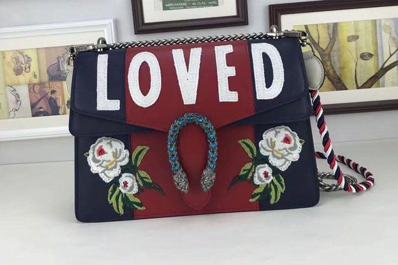 154eb502153 Gucci 403348 Love Dionysus medium shoulder bags Black Red