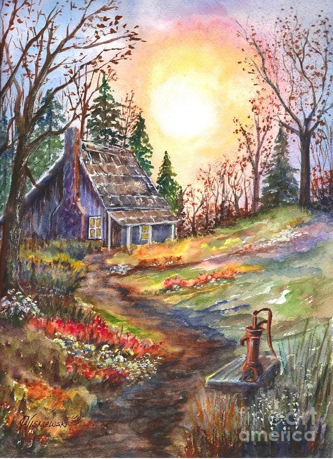 That Old Home In The Woods Painting By Carol Wisniewski