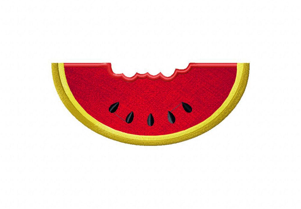 WatermelonChewedXXX Applique and Stitched Sizes 2.5″ 3″ 3