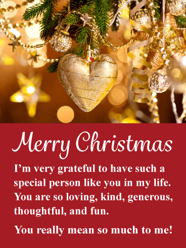 Golden Holiday Heart Romantic Merry Christmas Card Birthday Greeting Cards By Davia Merry Christmas Greetings Quotes Merry Christmas Quotes Christmas Love Quotes