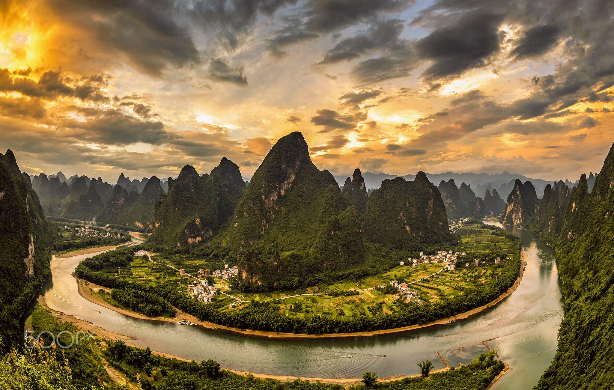 xianggong hill guilin china - landscape