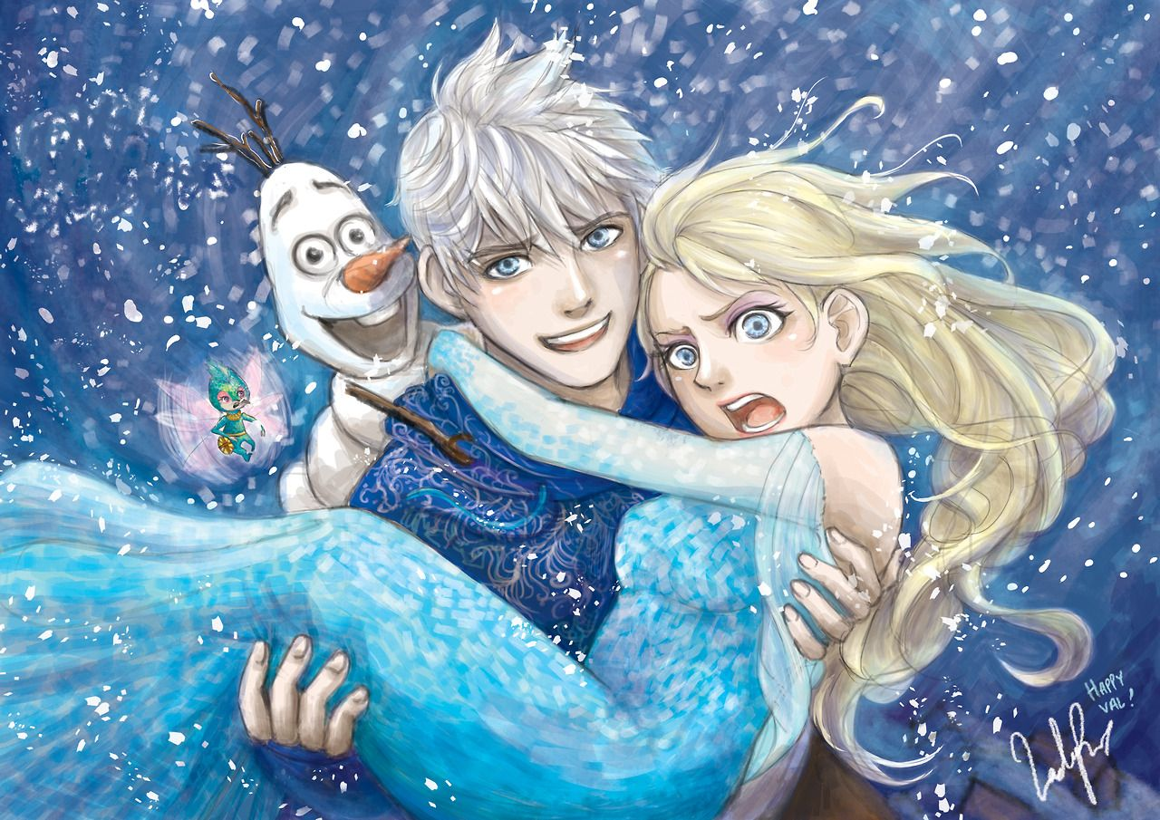 Картинки холодное сердце эльза и ледяной джек