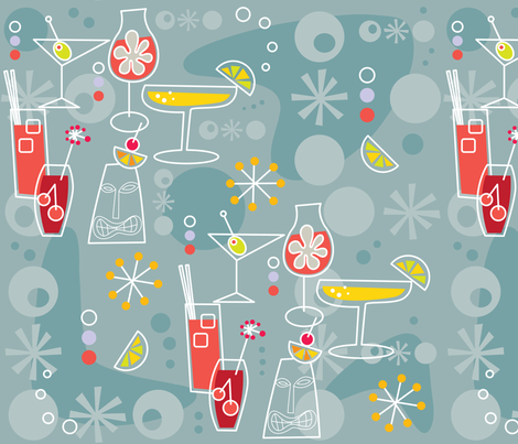 Summer Cocktails fabric by cynthiafrenette on Spoonflower - custom fabric