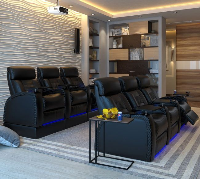 Modern Home Theatre Ideas: 39+ Home Theater Sheating Ideas That Will Make You Jealous