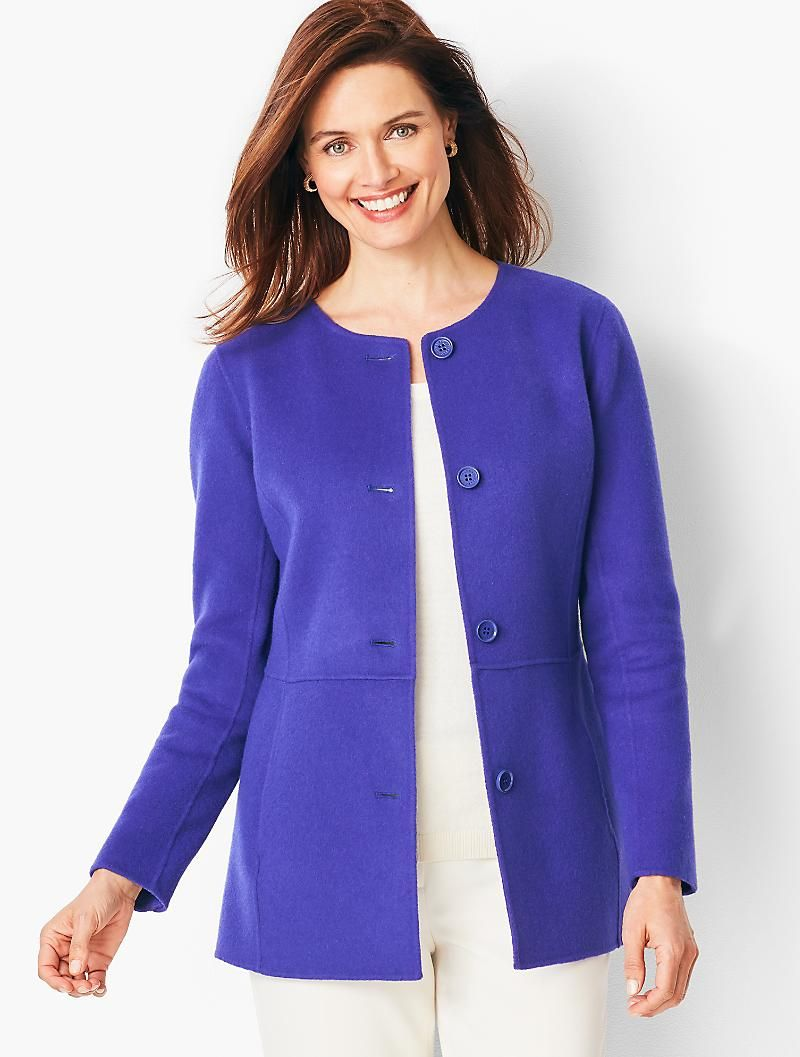 Double Face Wool Jacket Talbots Clothes Wool Jacket Clothes For Women [ 1057 x 800 Pixel ]
