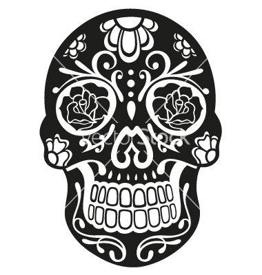 sugar skull vector 1541960 by christine krahl on vectorstock rh pinterest com sugar skull vector png sugar skull vector tutorial