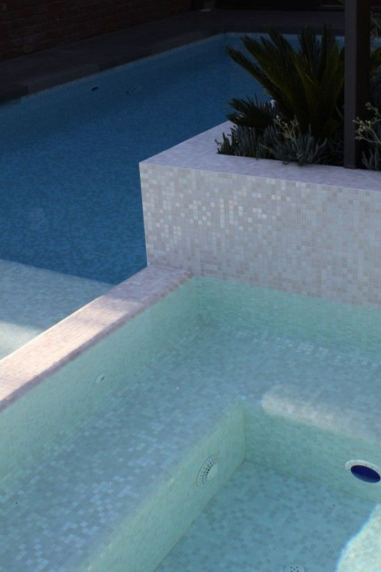 Swimming Pool Ideas: Mixed White Cloud glimmer glass mosaic ...