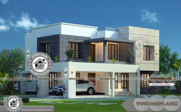 Design Of 2 Storey House Designs With Italian Modern Projects Collections 2 Storey House Design Kerala House Design House Design Pictures