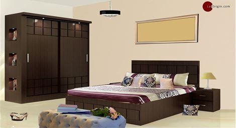 Picture Of Paloma Bed Wardrobe Set Bedroom Furniture Sets Buy