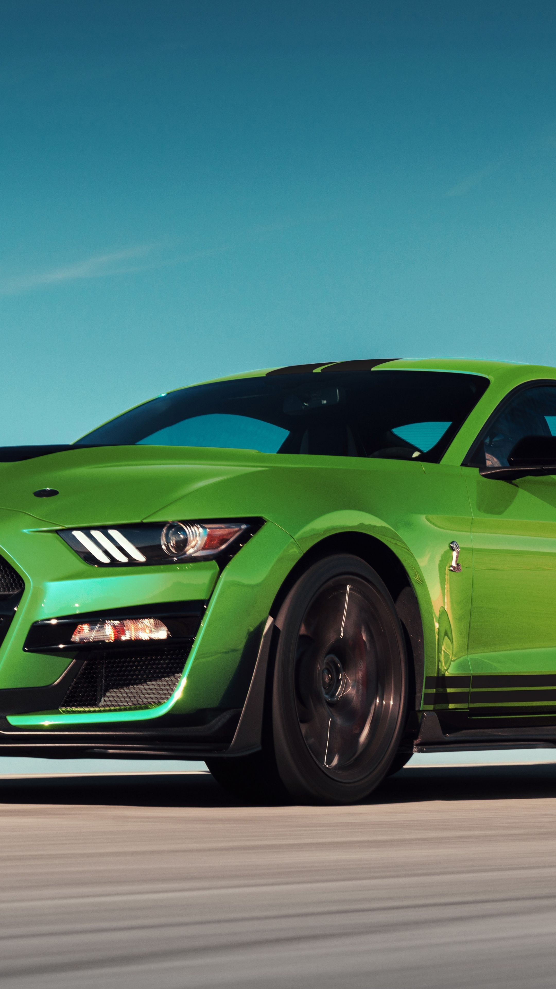 2160x3840 Green Ford Mustang Shelby Gt500 Wallpaper Mustang Shelby Ford Mustang Shelby Ford Mustang Shelby Gt500