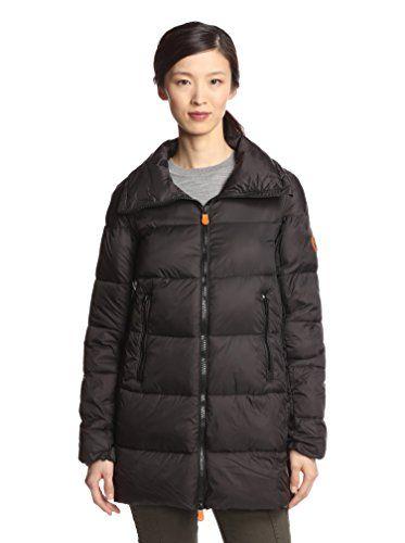 bb935848a Save the Duck Women's Long Puffer Coat (Black) | Women Fashion ...