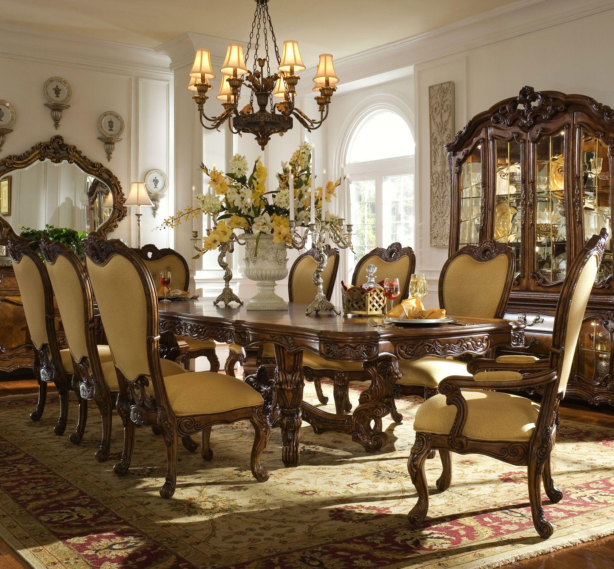 Palais Royale Rectangular Table Dining Set Michael Amini Aico