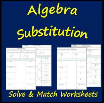 Algebra - Substitution Algebra, Worksheets and Algebra worksheets