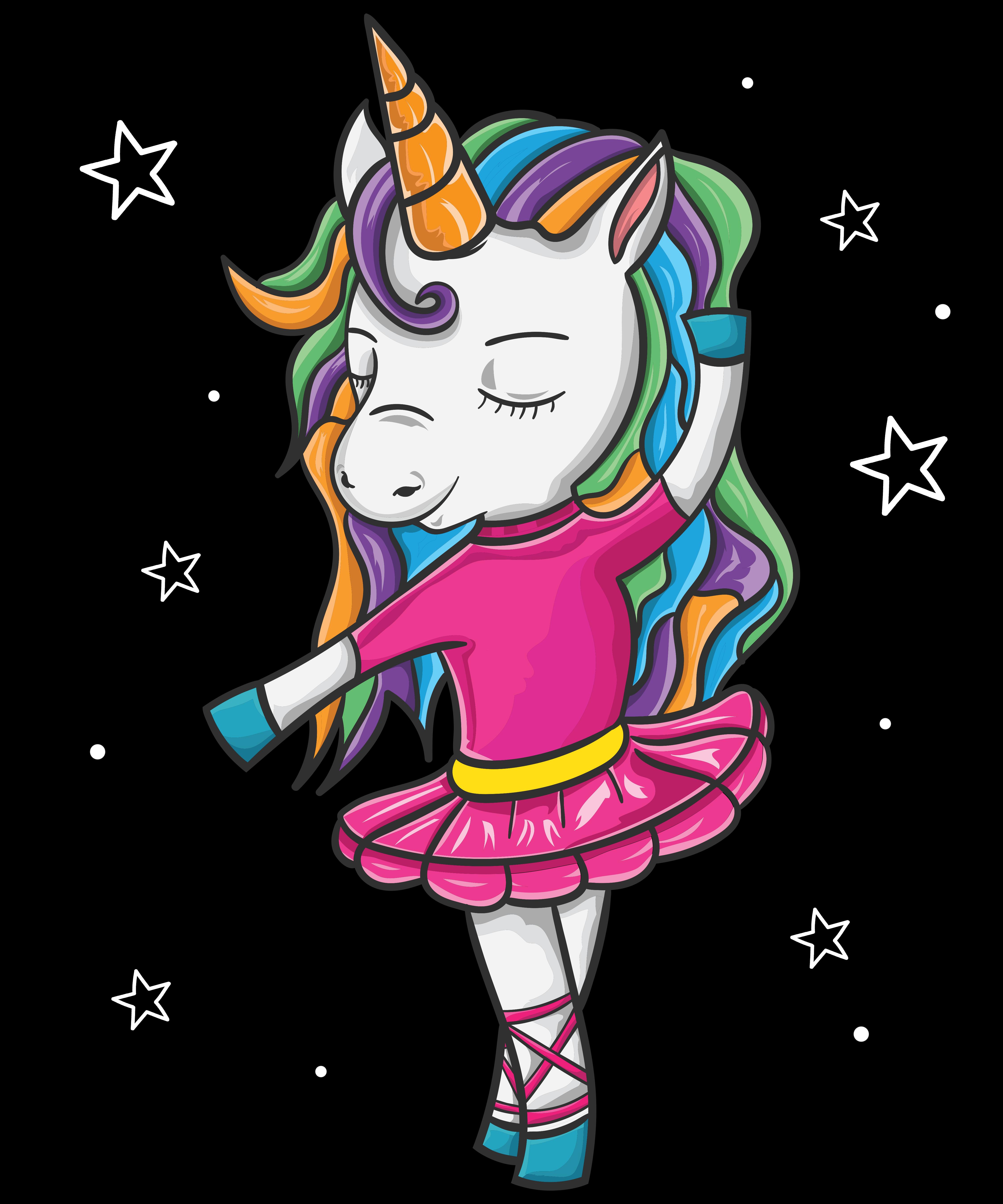 4f9f6764df3 Ballerina Unicorn Shirt for girl