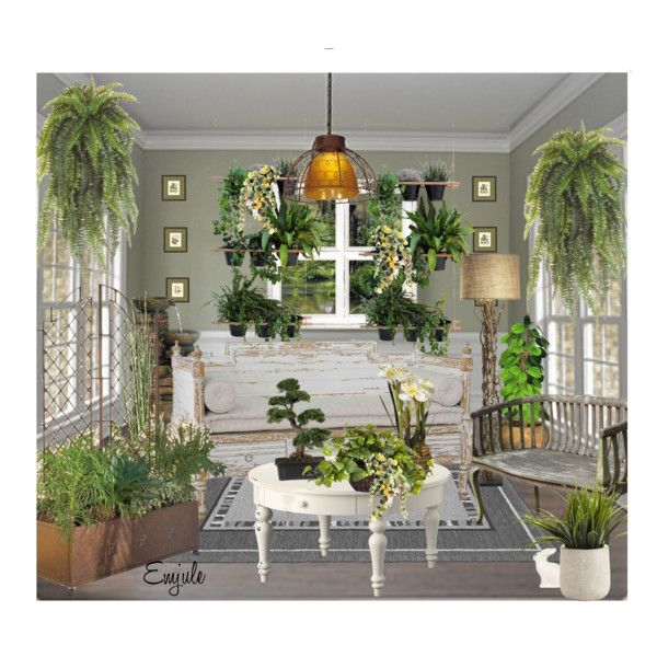 Shabby Chic Sunroom by emjule on Polyvore featuring ...