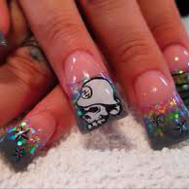 Metal mulisha nail art | nails | Pinterest