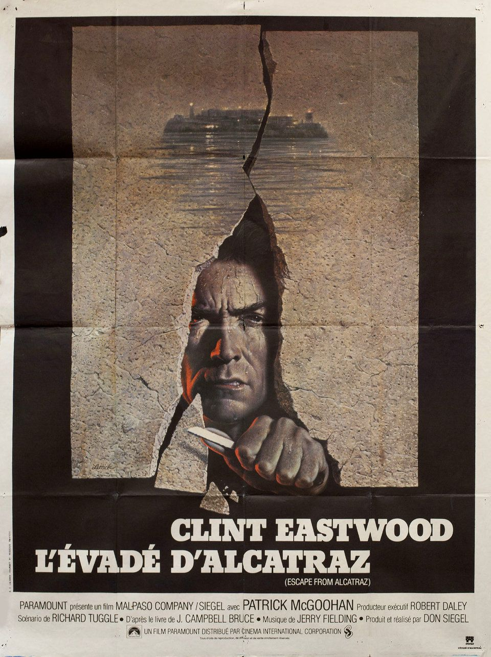 Escape From Alcatraz 1979 French Grande Poster Posteritati Movie