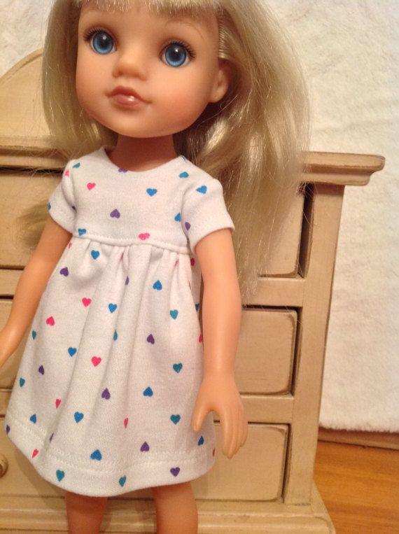 Confetti Hearts shortie knit dress for Wellie by NanaRaindrop