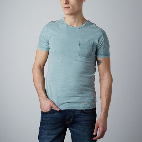 Thermal Shoulder T-Shirt // Cement