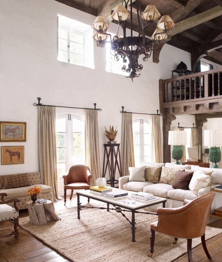 Charming Mediterranean Living Room Design (12 - -
