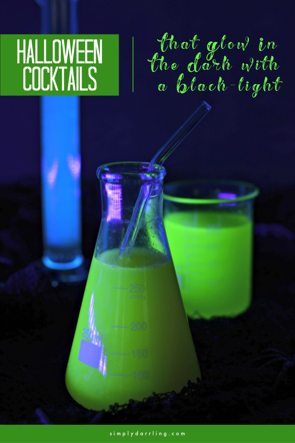 Cocktails that Glow Under Blacklight | Simply {Darr}ling