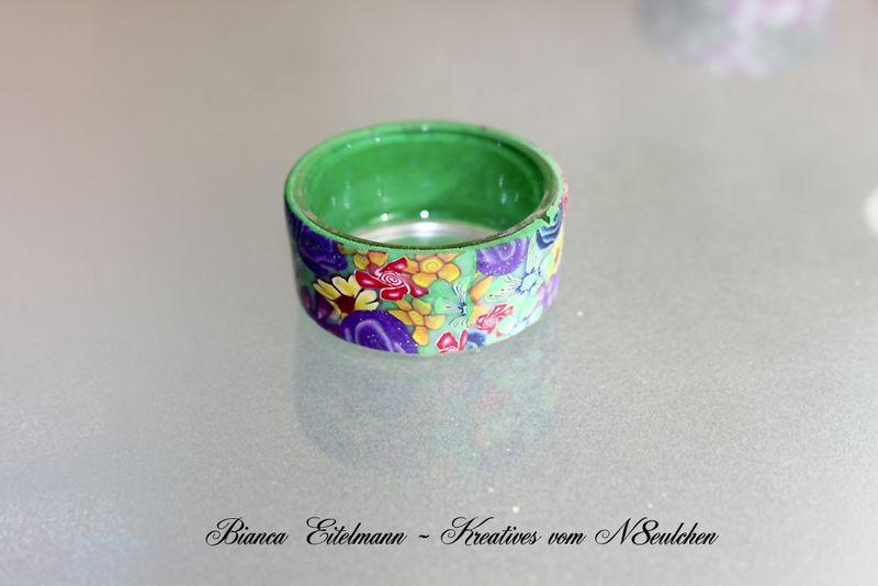 Teelichthalter - Unikat: Teelichthalter mit Blumenmuster - ein Designerstück von n8eulchen1979 bei DaWanda
