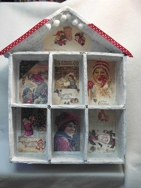 Maison avent images vintage et rubans