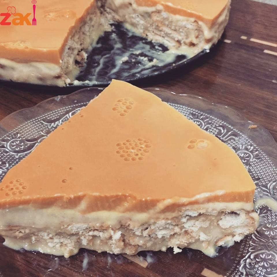 حلا الحليب المحموس زاكي Arabic Dessert Cake Recipes Sweets Recipes