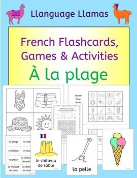 french summer beach vacation resources a la plage activities puzzles bingo sharing from. Black Bedroom Furniture Sets. Home Design Ideas