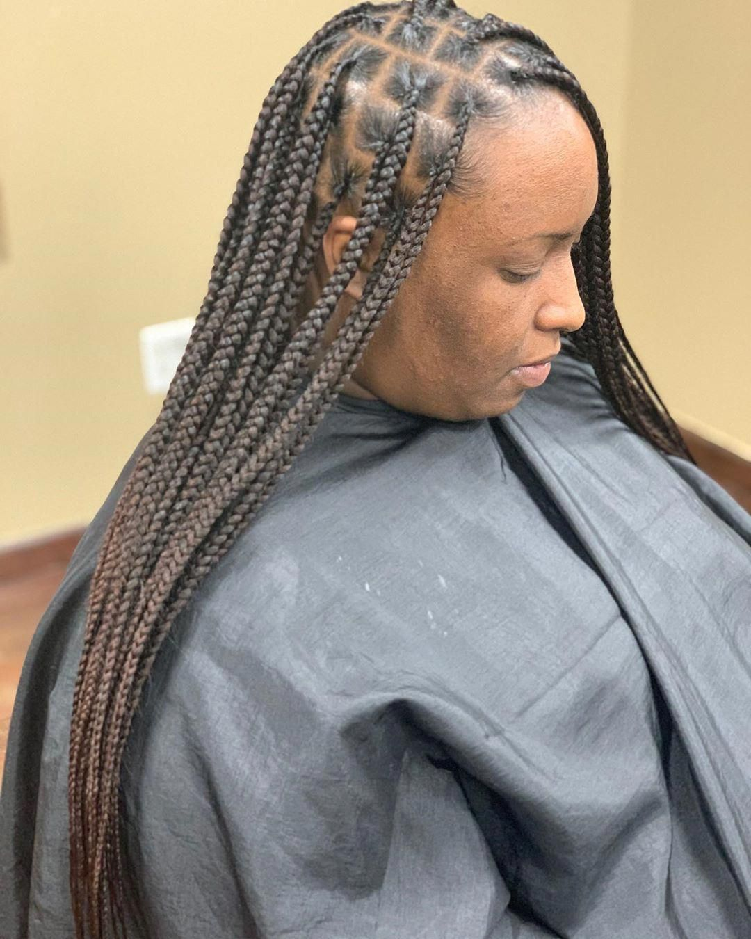 20++ Side part knotless braids trends