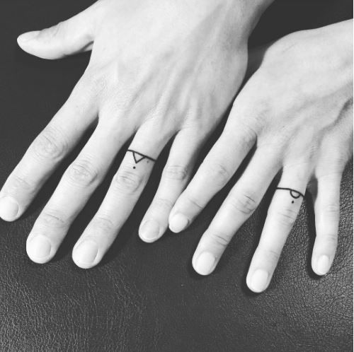 Tattooed Wedding Rings Tattoo wedding Matching tattoos and Tattoo