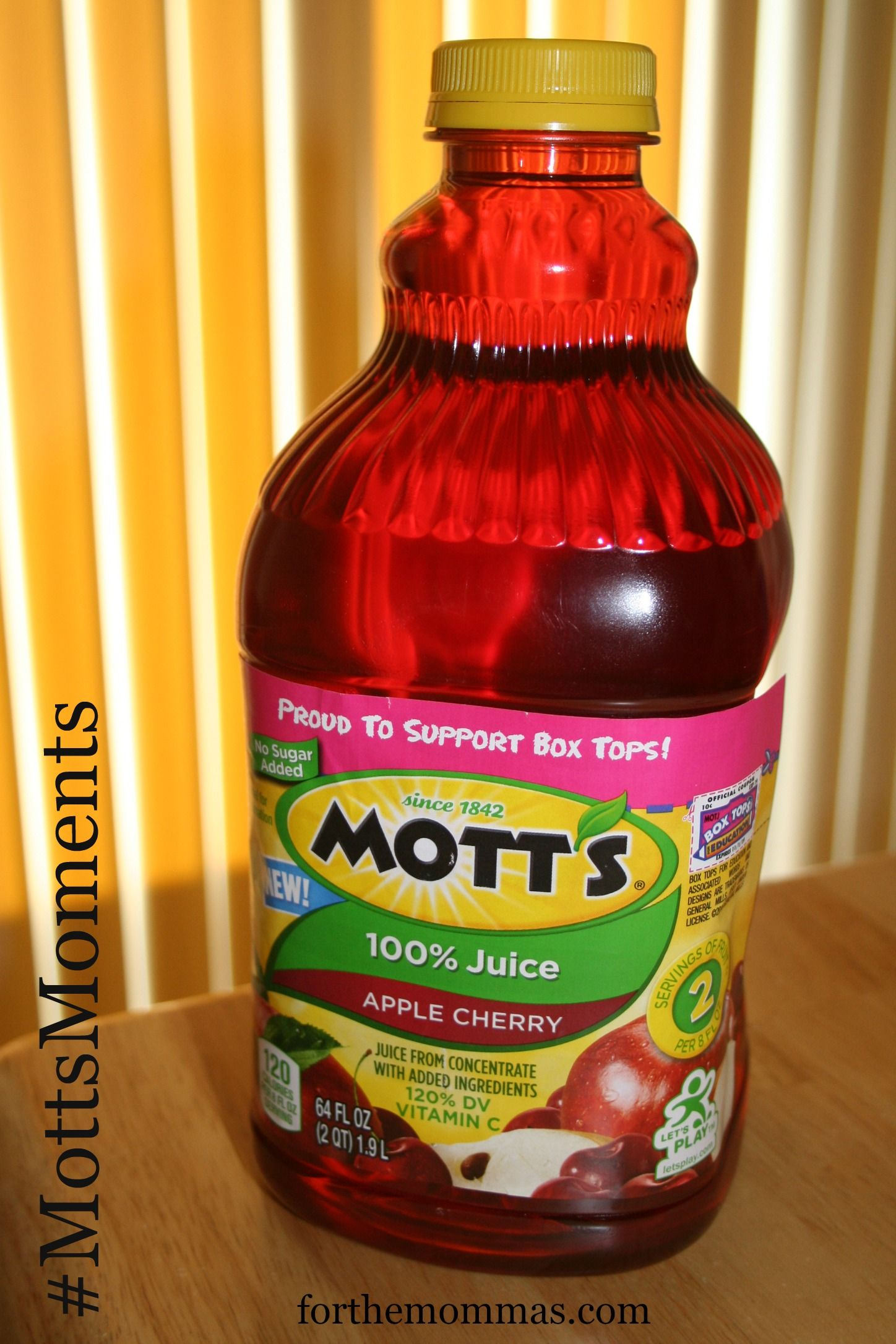 Enter to win a $100 Walmart gift card and try New Mott's® Apple Cherry Juice. #ad #MottsMoments #Sweepstakes