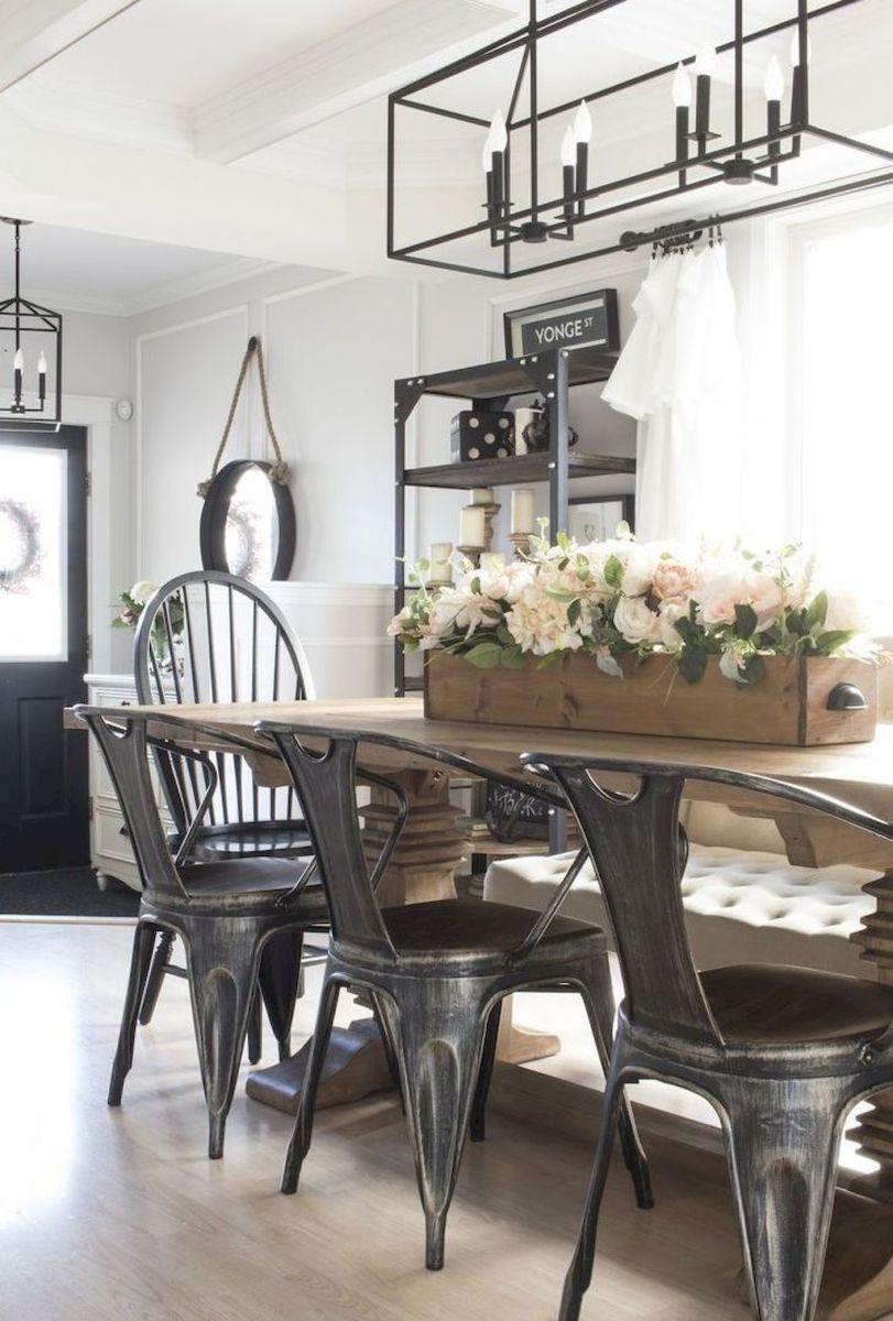 61 Amazing Modern Farmhouse Dining Room Decor Ideas Dining Room
