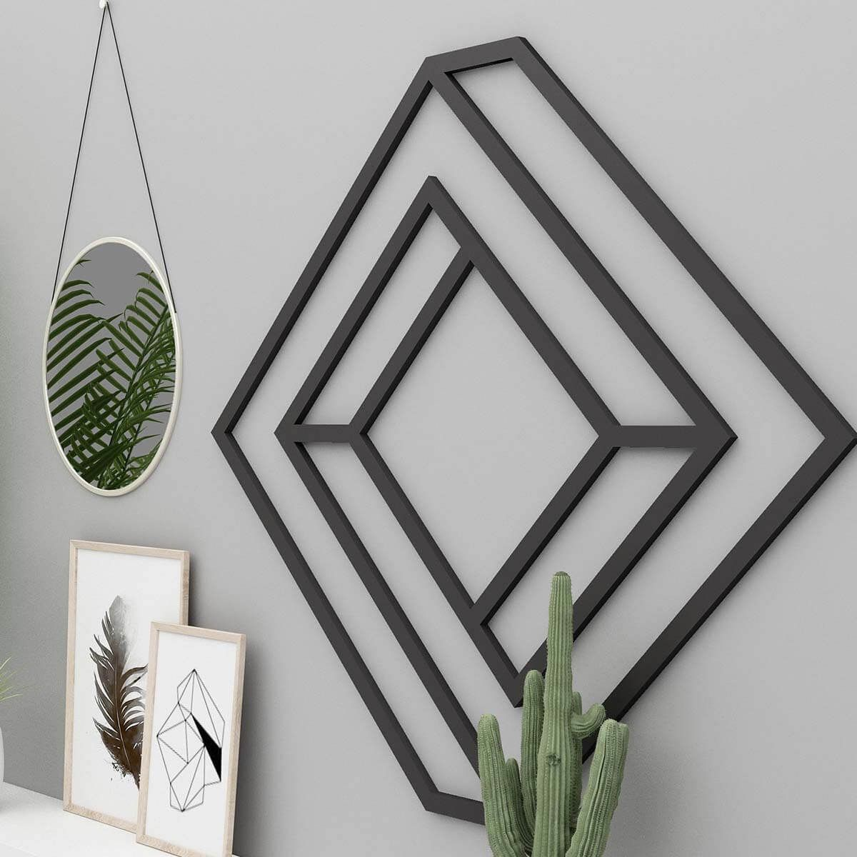3d geometric metal home decor wall art choose more